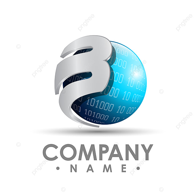 3d business corporate letter b logo design vector colorful template