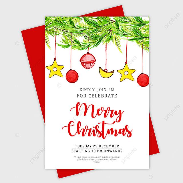 Biglietti Di Natale Modelli.Stupendo Acquarello Di Biglietti D Auguri Di Natale Modello Per Il