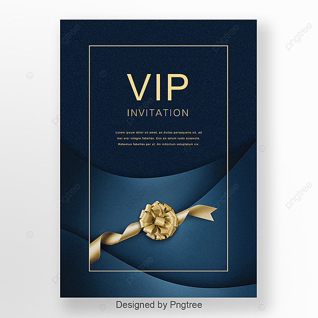 blue business high end atmosphere vip invitation letter