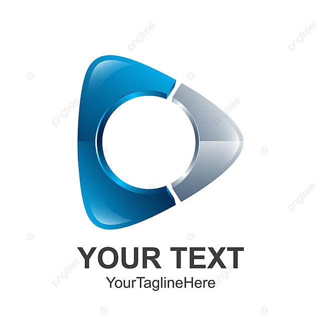 Creative Abstract Media Play Button Vector Logo Design