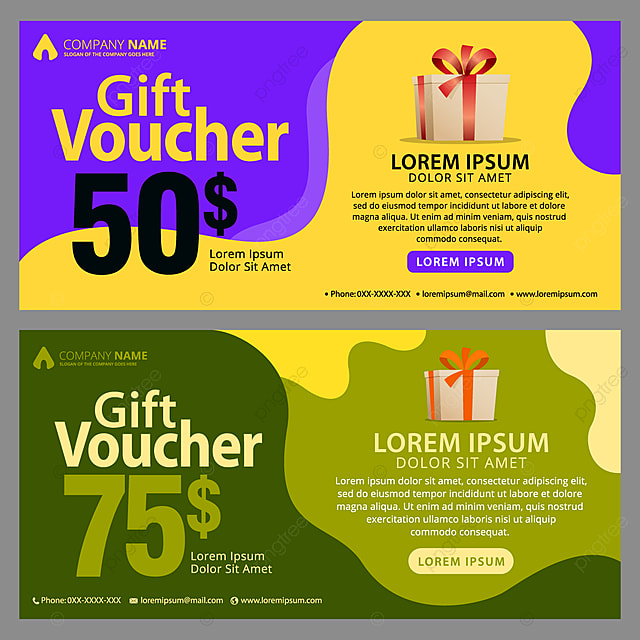 Gift Voucher Template With Clean And Modern Pattern Template For