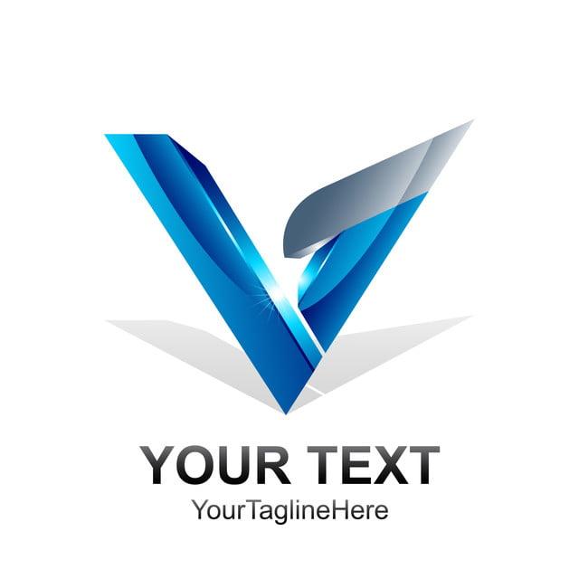 mod u00e8le de lettre initiale    logo bleu argent u00e9 de couleur