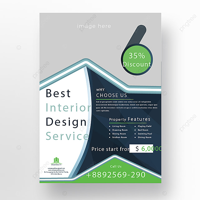 interior promotional flyer template template for free download on