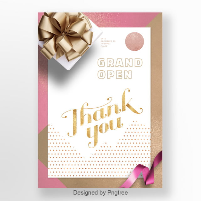 Invitation Letter For Pink Simple Gift Box Template for Free