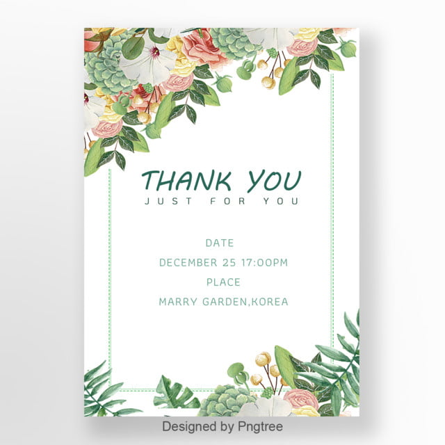 white simple flower invitation letter template for free