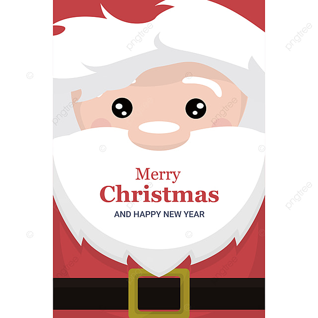 Christmas Card Brochure With Face And Body Of Template