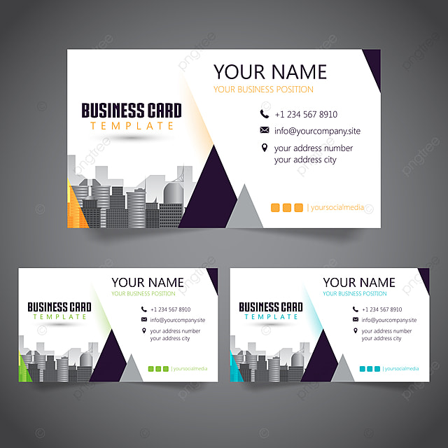Design Of Personal Business Card Template Template For Free Download