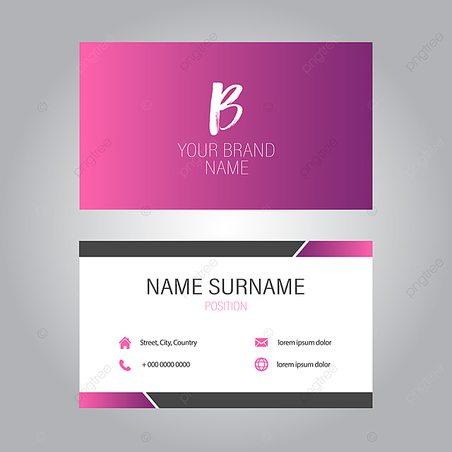 Elegante Visitenkarte Design Vorlage Zum Kostenlosen
