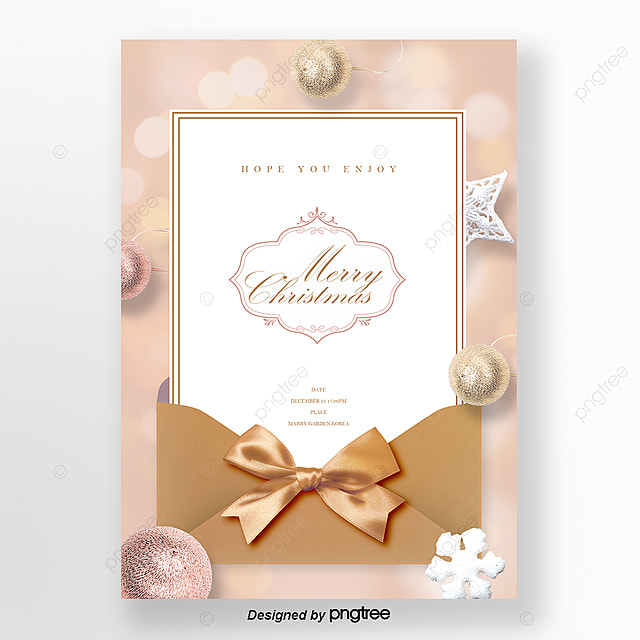 luxury golden bright spot letter paper christmas invitation letter