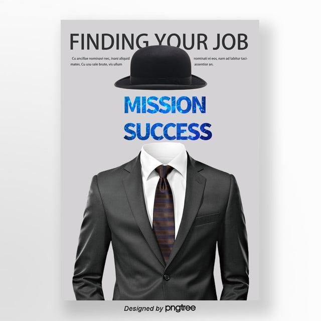 white business company recruitment poster recruitment fair poster