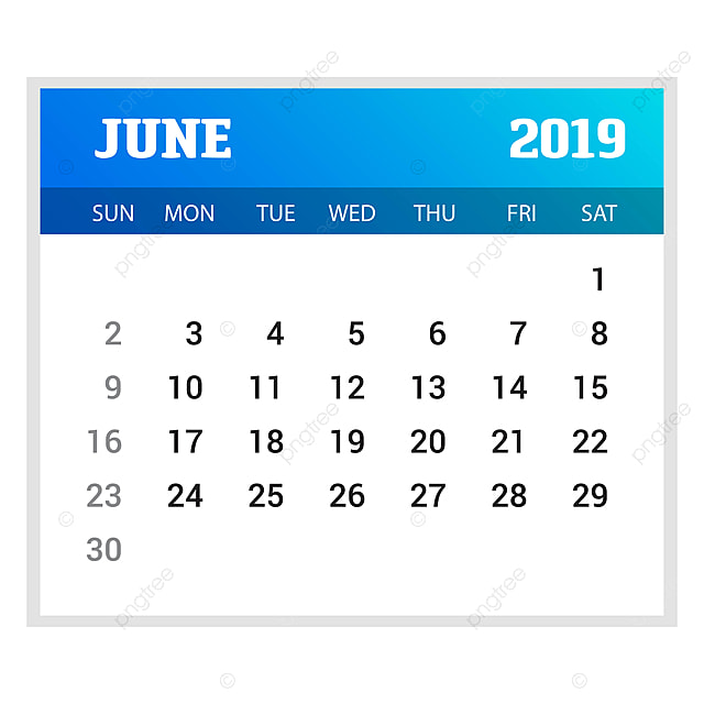 2019 happy new year june calendar template christmas background