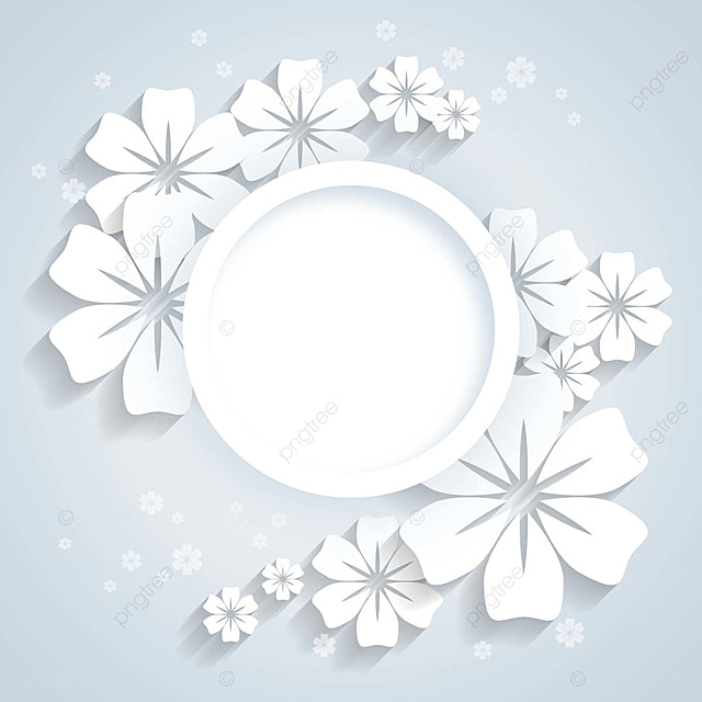 Circle And Paper Flowers Background Template For Free Download On