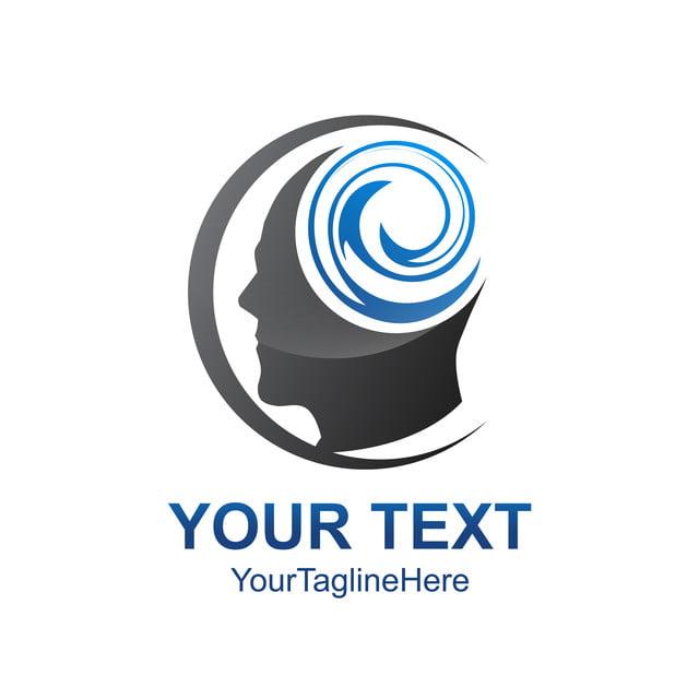 creative human head vector logo template design learning Template