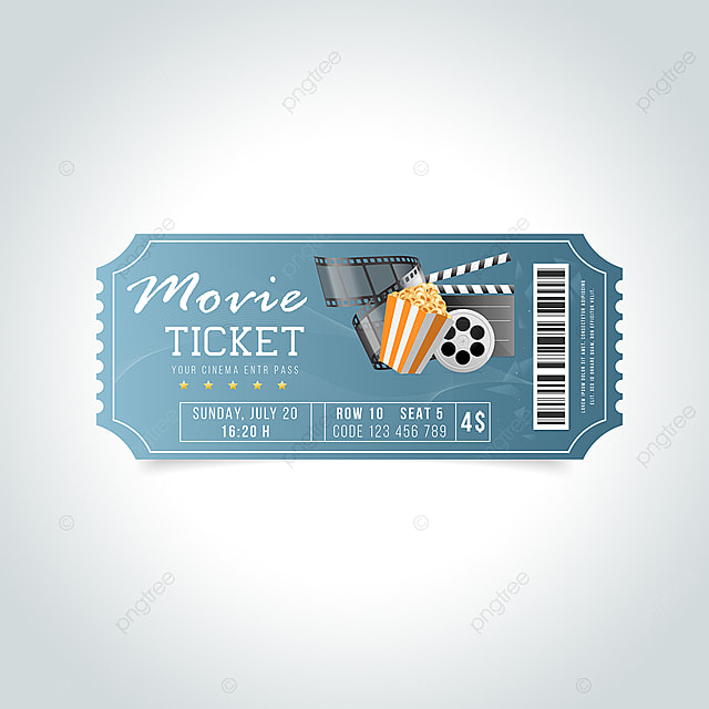 Entertainment Movie Ticket Design Template for Free Download
