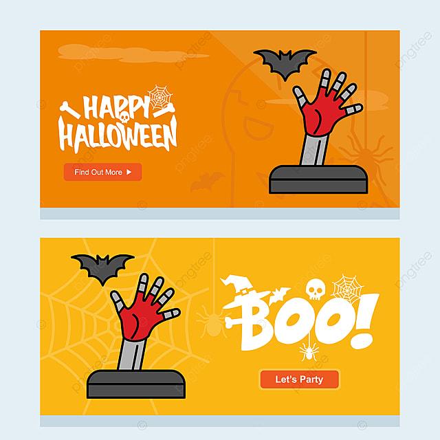 Szczęśliwego Halloween Zaproszenia Projektu Z Grobu Wektor Szablon