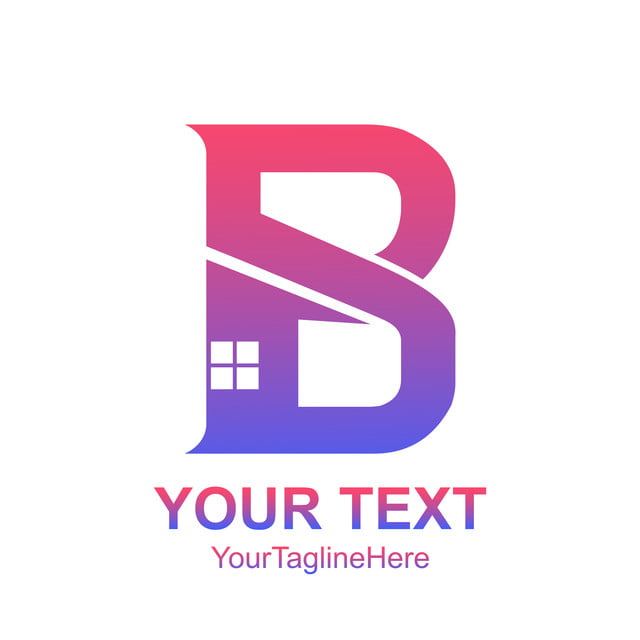 initial letter b logo template colorful home icon design template