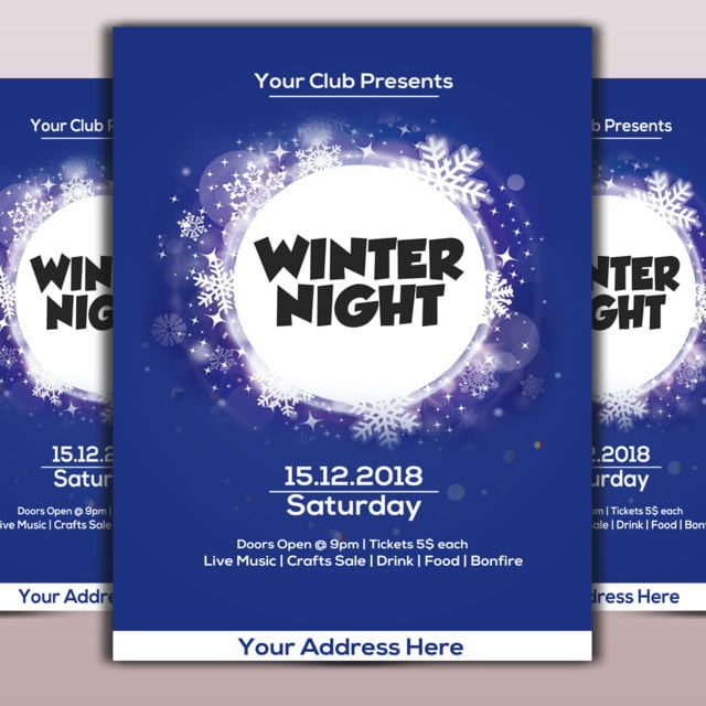 winter flyer template for free download on pngtree