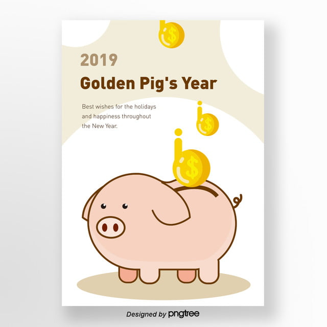 a method for 2019 cute pig savings template for free download on pngtree