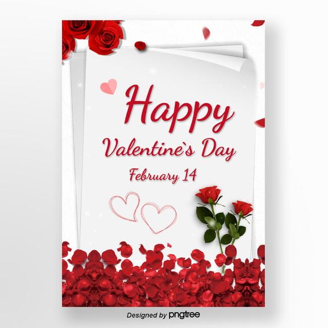 Czerwone Róże Na Walentynki Szablon Do Pobrania Za Darmo Na Pngtree