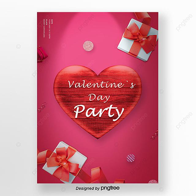 święto Miłości To Dar Czerwony Szablon Na Walentynki Szablon Do
