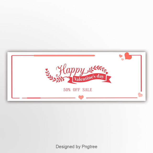 White Valentines Day Banner Template