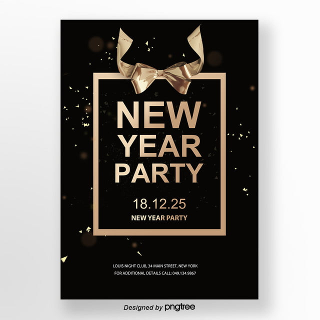 business luxury new year party poster template for free download on