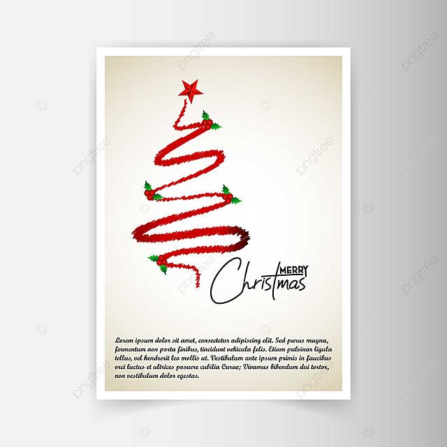 Navidad Tarjeta De Invitación Con Diseño Creativo Y Luz