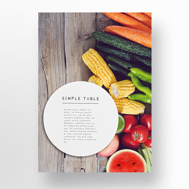 place simple tabletop posters on tableware template for free