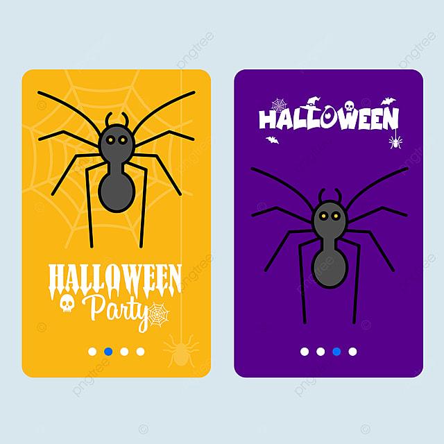 Szczęśliwego Halloween Zaproszenia Projektu Ze Spider Szablon Do