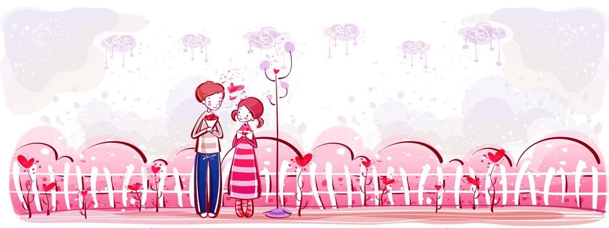 Les jeunes hommes et femmes main dans la main illustration - Amour entre femme et homme dans le lit ...