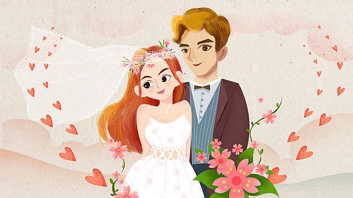 Novia recién casada Cartoon jirafa background Cónyuge Silueta Persona Imagen De Fondo