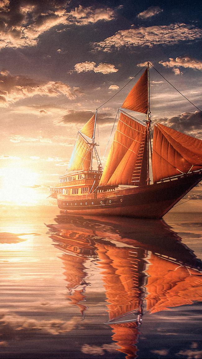 Pirate Ship Vessel Craft Background, Boat, Vehicle, Sea Background
