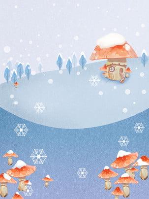バングルウィンタースノー 装飾 雪片 装飾 背景画像