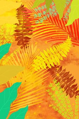 木秋秋木質植物 公園 イエロー 景観 背景画像