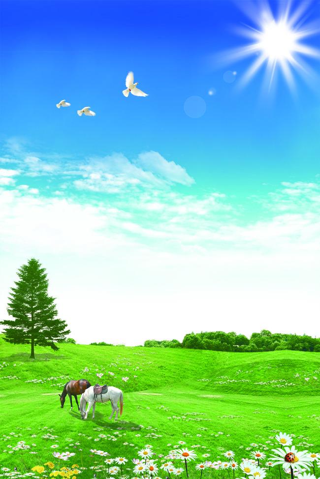 Steppa Semplice Terra Paesaggio Erba Rurale Sky Immagine Di Sfondo