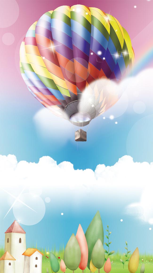空を背景にバルーンバルーン 航空機 デザイン 色 背景画像
