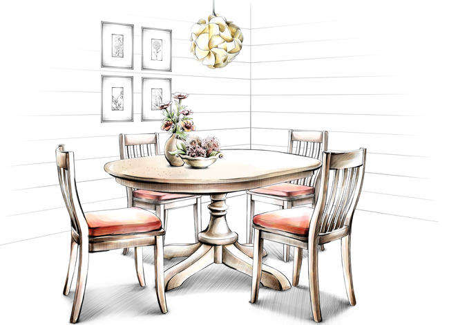 Dining Table Furniture Furnishing Background Room Chair House Image For Free
