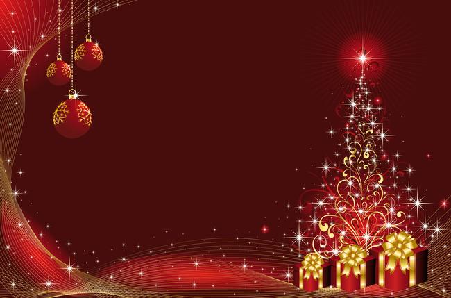 唯美的なクリスマスツリーのクリスマスボールの赤い底の背景素材 唯美 クリスマスツリー クリスマスボール 背景画像