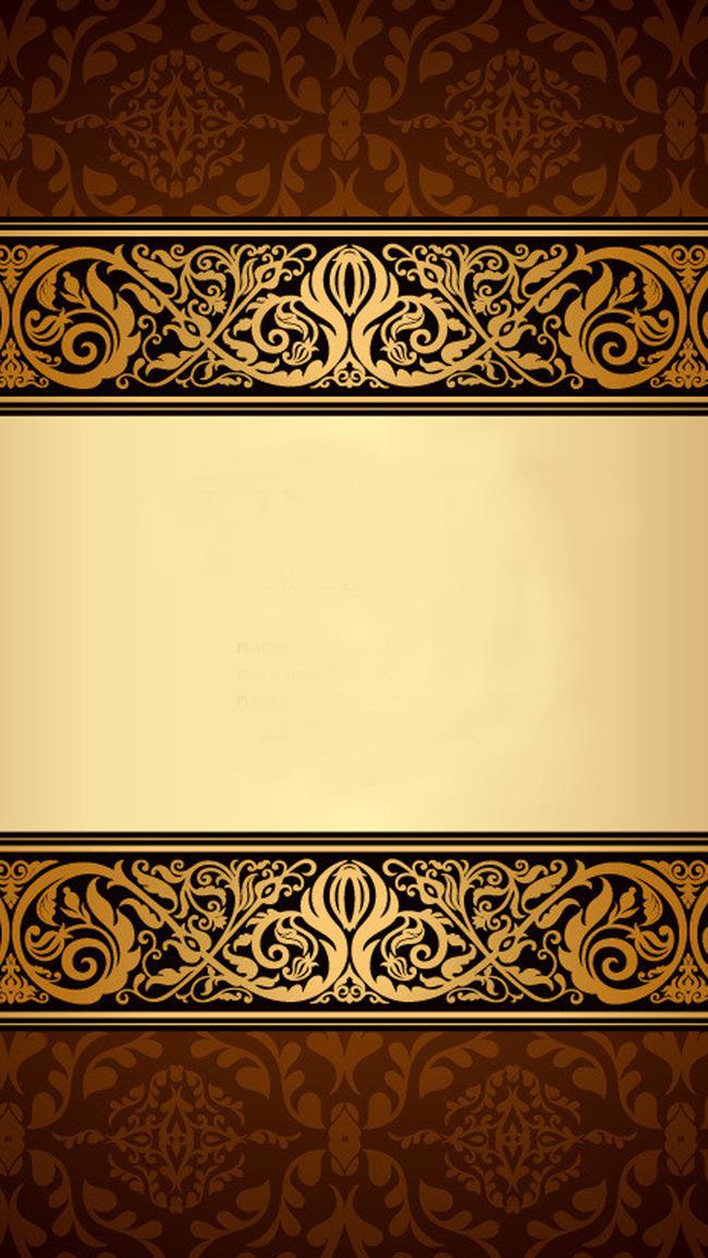 Открытка коричневая с золотом, открытки