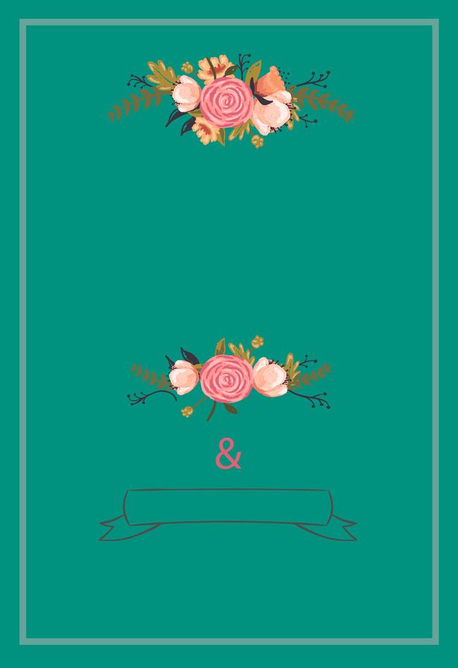 Simple Handpainted Lovely Birthday Party Invitation Card Cartoon