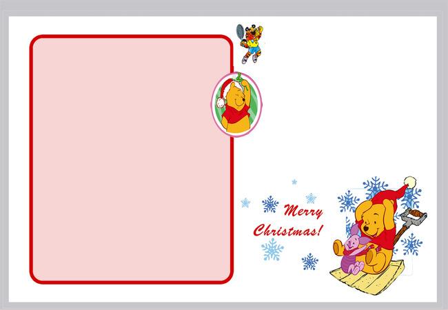 Floco de neve DOS desenhos animados Winnie the Pooh calendário poster template background Cartoon Winnie The Imagem Do Plano De Fundo