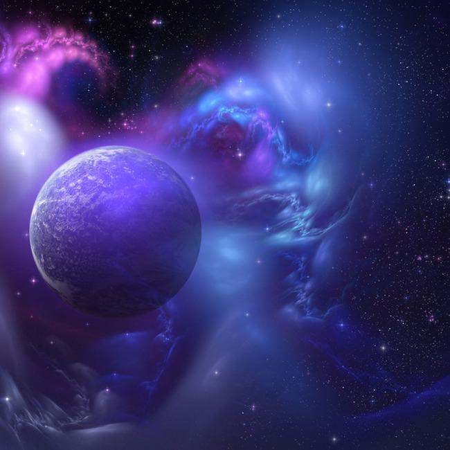 紫の星空のポスターの背景 紫のポスター 星空のポスター SF 背景画像