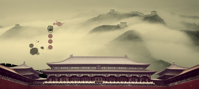 Temple Architecture Building Travel Background, Palace, Sky, China, Background image