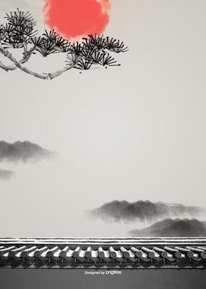 新年の伝統的な復古文陽の背景 , 肝薬, 大気, 背景 背景画像