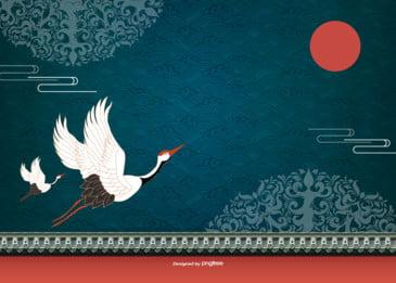 전통 문양 고풍 새해 배경 그림, 전통., 전통 문양, 복고 배경 이미지