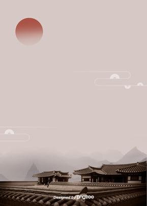 한국 전통 새해 처마 배경 , 새해, 2019 배경, 전통 배경 이미지