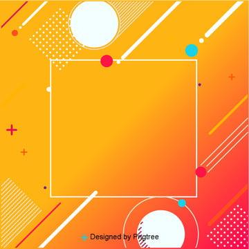 橙色背景矩形圓形白色的線 , 場景, 背景, 珠寶 背景圖片