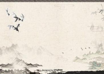 전통 산수 잉크 그림 새해 배경, 전통, 산수, 잉크 배경 이미지