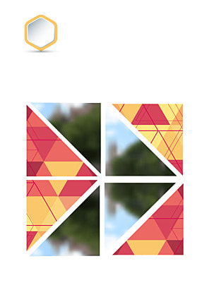 Colorful crystal brochure blurred streetscape geometric background , Brochure, Blurred Street View, Geometric Cover Combination Background image