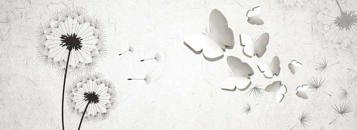 हाथ से तैयार सिंहपर्णी 3 डी स्टीरियो, सरल, सरल, सिंहपर्णी पृष्ठभूमि छवि